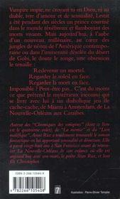 Chroniques des vampires T.4 ; le voleur de corps - 4ème de couverture - Format classique