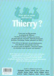 L'encyclopédie des prénoms en bd t.16 ; thierry - 4ème de couverture - Format classique