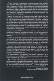 Les medecins du grand siecle - 4ème de couverture - Format classique