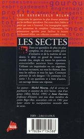 Les sectes - 4ème de couverture - Format classique