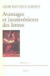 Avantages Et Inconvenients Des Lettres - Intérieur - Format classique