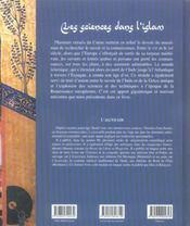 Sciences dans l islam - 4ème de couverture - Format classique