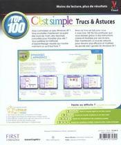 Windows Xp ; Top 100 Trucs Et Astuces - 4ème de couverture - Format classique