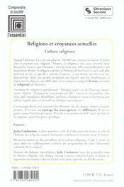 Religions Et Croyances Actuelles - 4ème de couverture - Format classique