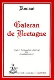 Galeran de Bretagne - Couverture - Format classique