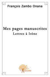 Mes pages manuscrites - Intérieur - Format classique