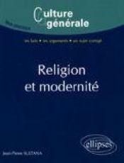 Religion et modernité - Couverture - Format classique