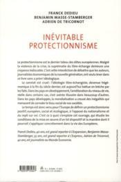 Inévitable protectionnisme - 4ème de couverture - Format classique