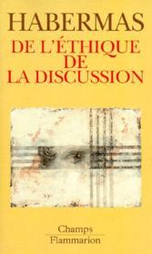 De L'Ethique De La Discussion - Couverture - Format classique