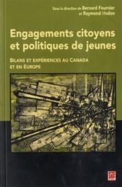 Engagements citoyens et politiques de jeunes - Couverture - Format classique
