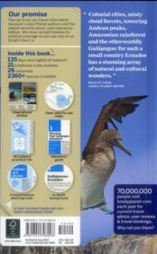 Ecuador & the Galapagos islands (9e édition) - 4ème de couverture - Format classique