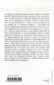 Petite Mystique Du Dialogue - 4ème de couverture - Format classique