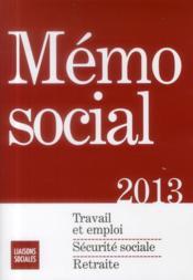 Mémo social (édition 2013) - Couverture - Format classique