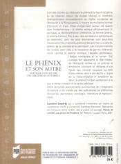 Le phénix et son autre ; poétique d'un mythe - 4ème de couverture - Format classique