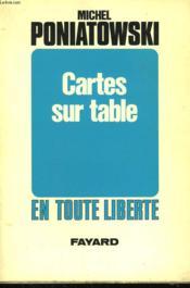 Cartes Sur Table. - Couverture - Format classique