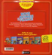 Rois et reines de France - 4ème de couverture - Format classique