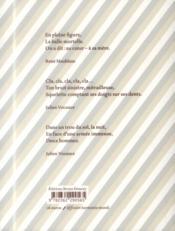 En pleine figure ; haïkus de la guerre de 14-18 - 4ème de couverture - Format classique
