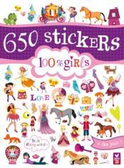 GOMMETTES ; 650 stickers 100% girls ; bloc - Couverture - Format classique