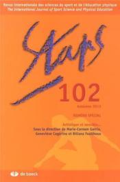 STAPS N.102 ; artistique et sensible - Couverture - Format classique