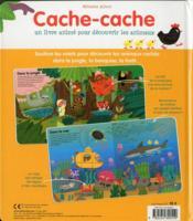 Flip-flap ; cache-cache, un livre animé pour découvrir les animaux - 4ème de couverture - Format classique