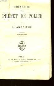 Souvenirs D'Un Prefet De Pollice - Premier Tome - Couverture - Format classique