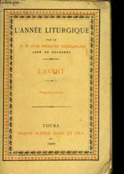 L'Annee Liturgique - L'Avent - Couverture - Format classique