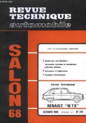 Revue Technique Automobile - N°270 - Couverture - Format classique