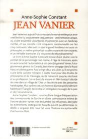 Jean Vanier ; portrait d'un homme libre - 4ème de couverture - Format classique