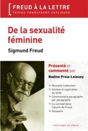 De la sexualité féminine ; Sigmund Freud (1931) - Couverture - Format classique