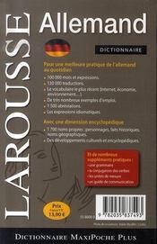 Maxi Poche Plus Allemand - 4ème de couverture - Format classique
