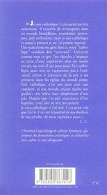 Je Suis Catholique Et J'Ai Mal - 4ème de couverture - Format classique
