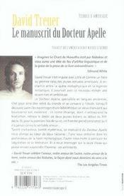 Le manuscrit du docteur apelle - 4ème de couverture - Format classique