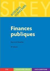 Finances publiques (14e édition) - Couverture - Format classique
