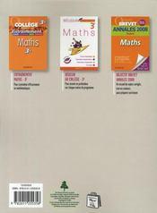 DIABOLO ; mathématiques ; 3ème ; livre de l'élève - 4ème de couverture - Format classique
