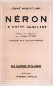 Néron, le poète sanglant - Couverture - Format classique