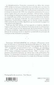 Banques En France - 4ème de couverture - Format classique