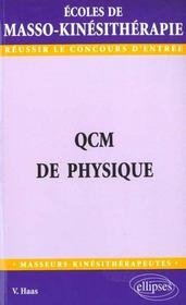 Qcm De Physique Ecoles De Masso-Kinesitherapie - Intérieur - Format classique