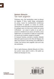 Ton nom argentin - 4ème de couverture - Format classique
