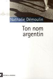Ton nom argentin - Intérieur - Format classique