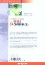 Comment choisir son école de commerce ? (7e édition) - 4ème de couverture - Format classique