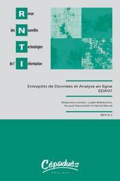 Entrepôts de données et analyse en ligne eda'07 - Intérieur - Format classique