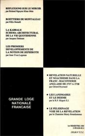 Travaux de la loge nationale de recherches Villard de Honnecourt n°18 - 4ème de couverture - Format classique