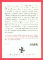 Lexique érotique illustré - 4ème de couverture - Format classique