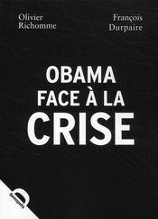 Obama face à la crise - Couverture - Format classique