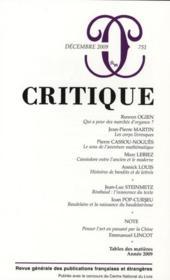 Revue Critique N.751 - Couverture - Format classique