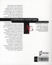 L'expérience esthétique ; intuition et expertise - 4ème de couverture - Format classique