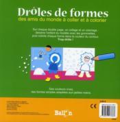 Drôles de formes ; amis du monde - 4ème de couverture - Format classique