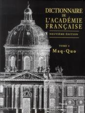 Dictionnaire de l'académie française - Couverture - Format classique