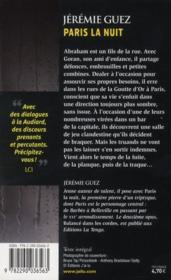Paris la nuit - 4ème de couverture - Format classique