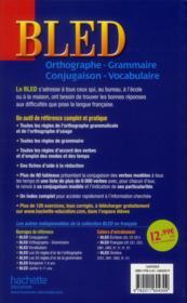 Bled ; Le Tout-En-Un - 4ème de couverture - Format classique